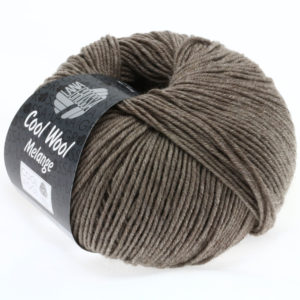 Lana Grossa Cool Wool 115 сіро-коричневий меланжевий