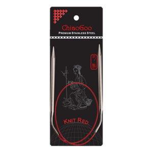 Металеві кругові спиці ChiaoGoo Knit Red 60 см