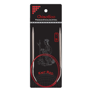 Металеві кругові спиці ChiaoGoo Knit Red 80 см