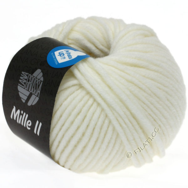 Lana Grossa Mille II 75 білий